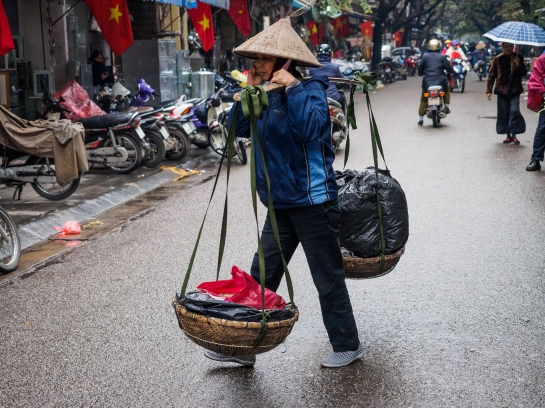 Old Quarter in the rain, Hanoi
