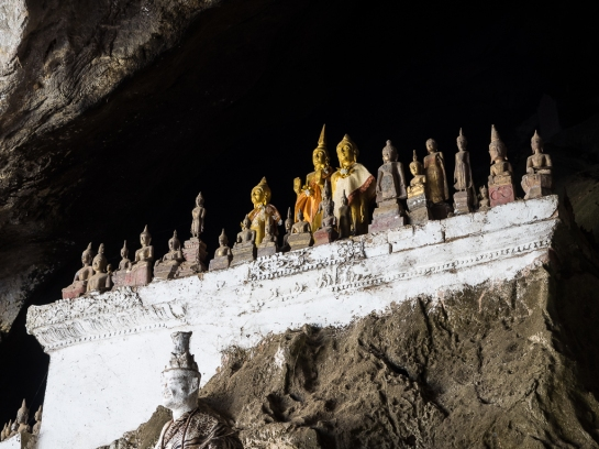 Buddhas in the caves