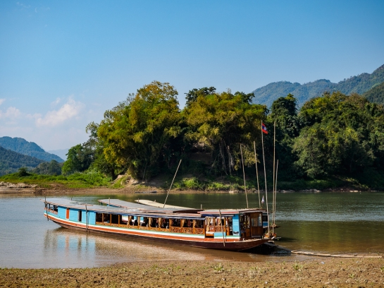 Longboat on the Mekong